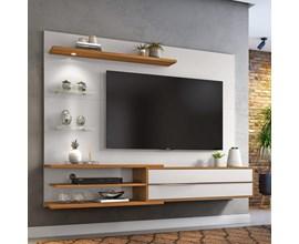 Painel para Tv Até 60 Polegadas Off White e Nogal NT1115 Notável Móveis