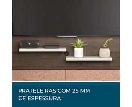Painel Para Tv Nt 1070 Café com Areia Casa Aberta Brasil