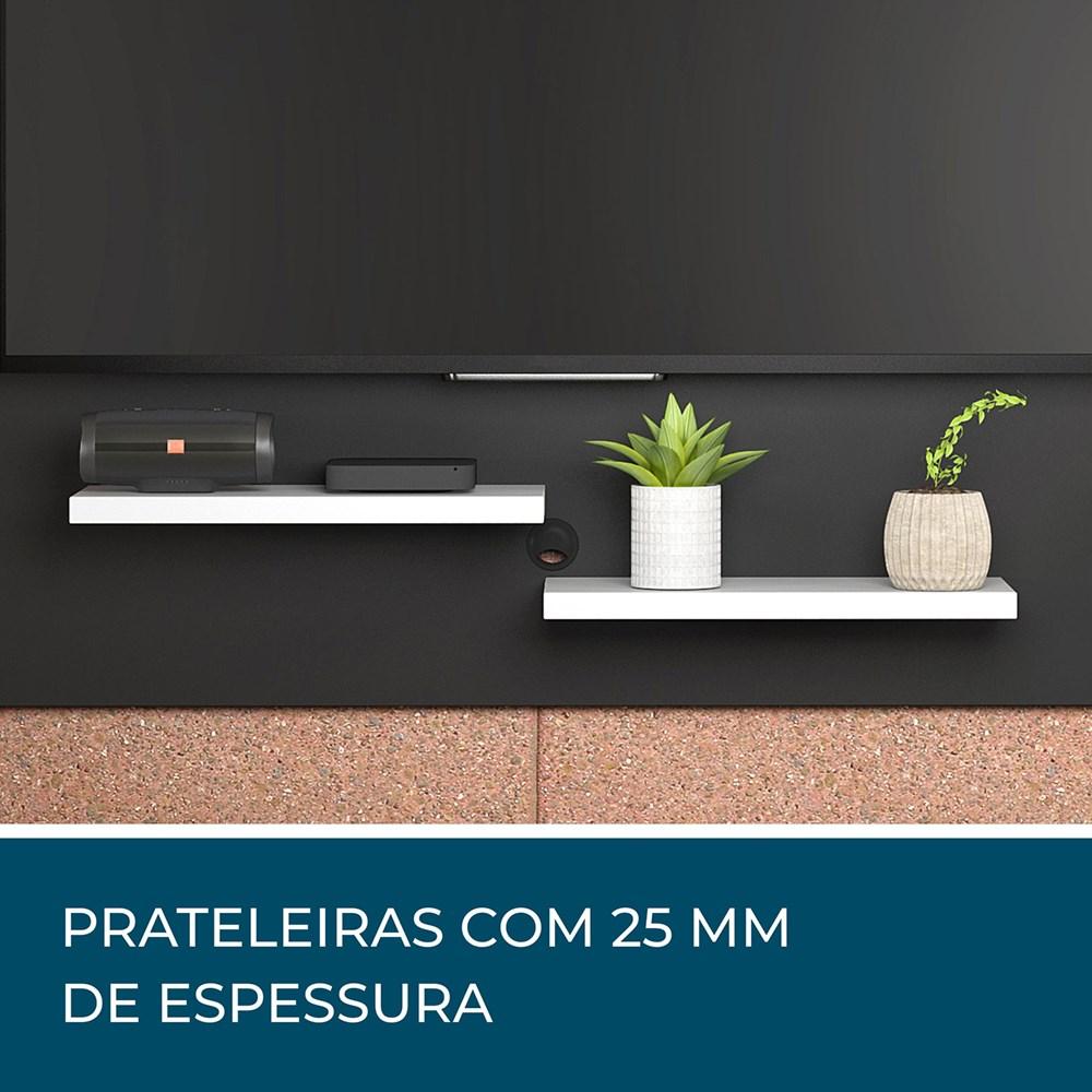 Painel Para Tv Nt 1070 Preto com Branco Casa Aberta Brasil