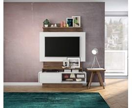 Painel Para Tv Tb111 Branco Brilho Off-White / Nobre Dalla Costa