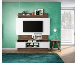 Painel Para Tv Tb112 Branco Brilho Off-White / Nobre Dalla Costa