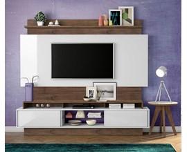 Painel Para Tv Tb113 Branco Brilho Off-White / Nobre Dalla Costa