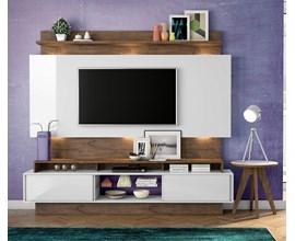 Painel Para Tv Tb113l Branco Brilho Off-White / Nobre Dalla Costa