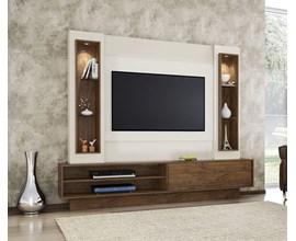 Painel Para Tv Tb129l Branco Brilho Off-White / Nobre Dalla Costa