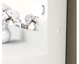 Penteadeira Camarim com Espelho e Spots PE2001 Branco Tecno Mobili