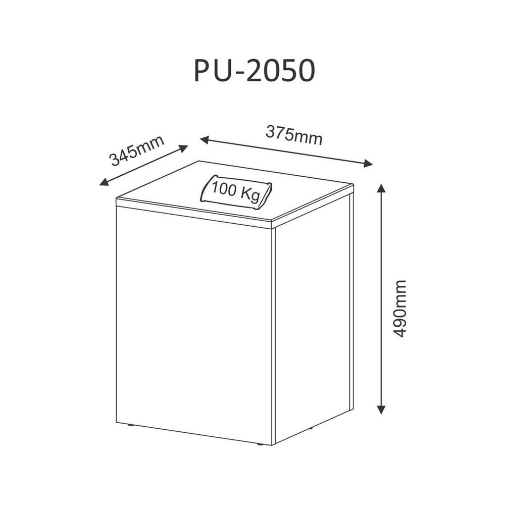 Puff Baú Lavanda Floral Pe2050 Branco/ Tec 381 Tecno Mobili
