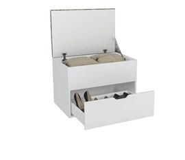 Puff Baú TEC 381 PE2051 Branco/Bege Tec 381 Tecno Mobili