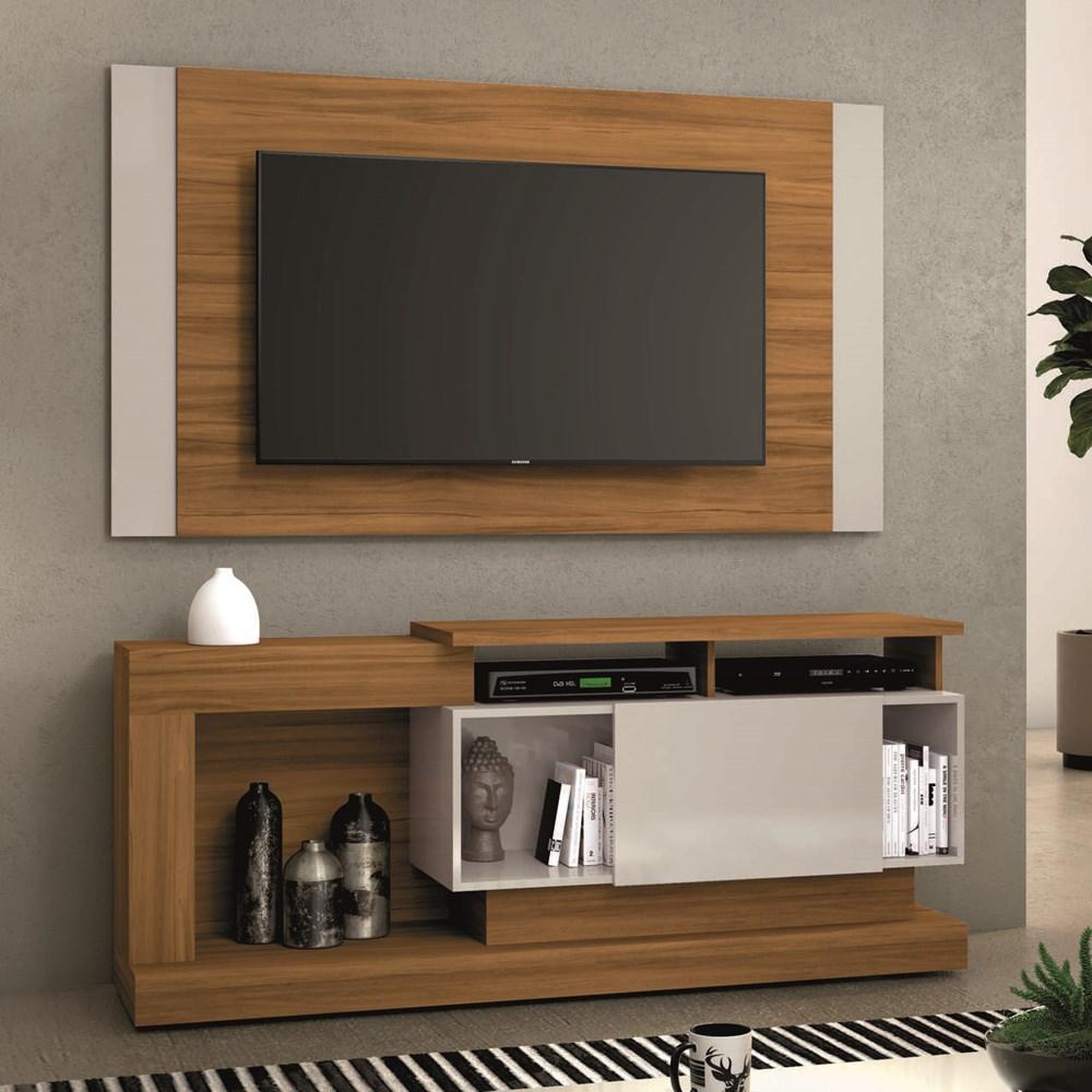 Rack com Painel Nt 1065 Para Tv Até 55 Polegadas Freijó Trend Notável Móveis