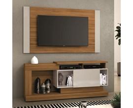 Rack com Painel para Tv até 55 Polegadas Freijó Trend e Off White NT1065 Notável Móveis