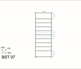 Sapateira 2 Portas BST07 Versa Branco BRV Móveis