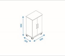 Sapateira 2 Portas BST08 Versa Branco BRV Móveis