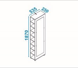 Sapateira Versa BST14 Branco C/Espelho BRV Móveis