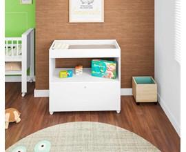 Trocador de Fraldas Para Quarto de Bebê Algodão Doce Branco Tr1090 Art In Móveis